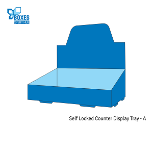 Self-Locked Counter Display Tray