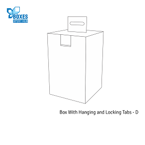 Box With Hanging and Locking Tabs