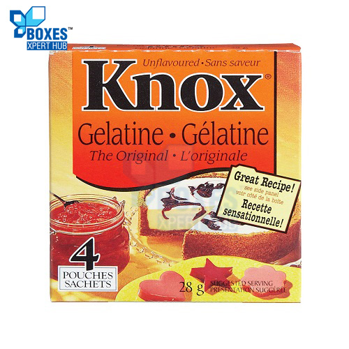 Gelatin Powder Boxes
